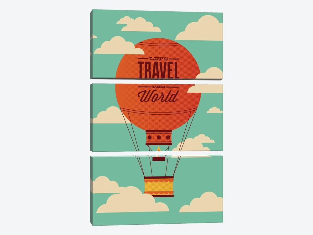 Travel the World by Andrew Heath 3-piece Canvas Artwork