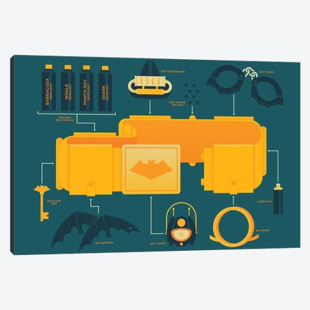 Utility Belt '66 Canvas Print #AHH105} by Andrew Heath Canvas Wall Art