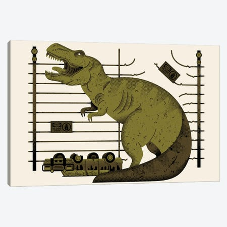 You've Got A T-Rex? Canvas Print #AHH107} by Andrew Heath Canvas Artwork