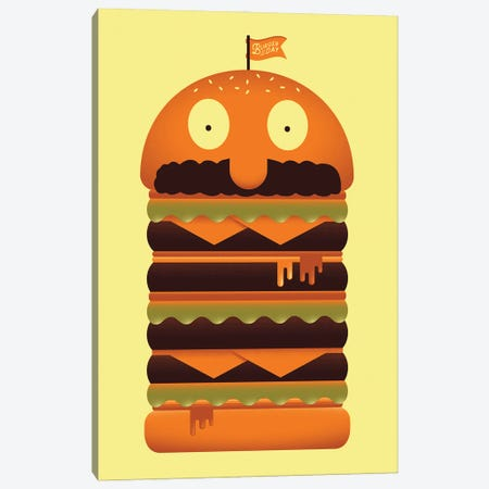 Burger of the Day Canvas Print #AHH18} by Andrew Heath Canvas Print