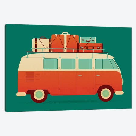 60's Vacation 3-Piece Canvas #AHH1} by Andrew Heath Canvas Art
