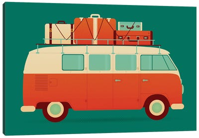 60's Vacation Canvas Art Print