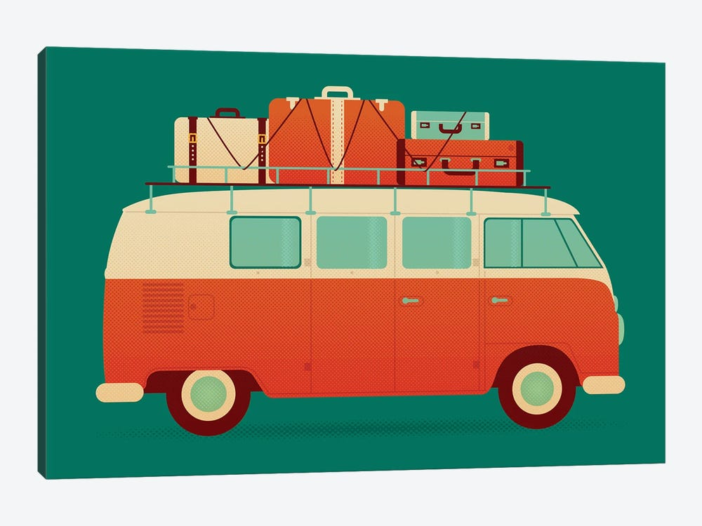 60's Vacation by Andrew Heath 1-piece Canvas Art Print