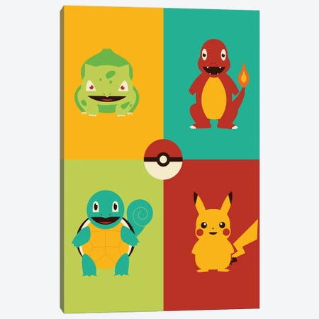 Catch Em All 3-Piece Canvas #AHH20} by Andrew Heath Canvas Artwork