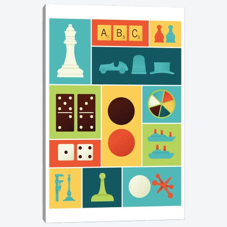 Classic Gaming Canvas Print #AHH21} by Andrew Heath Canvas Art