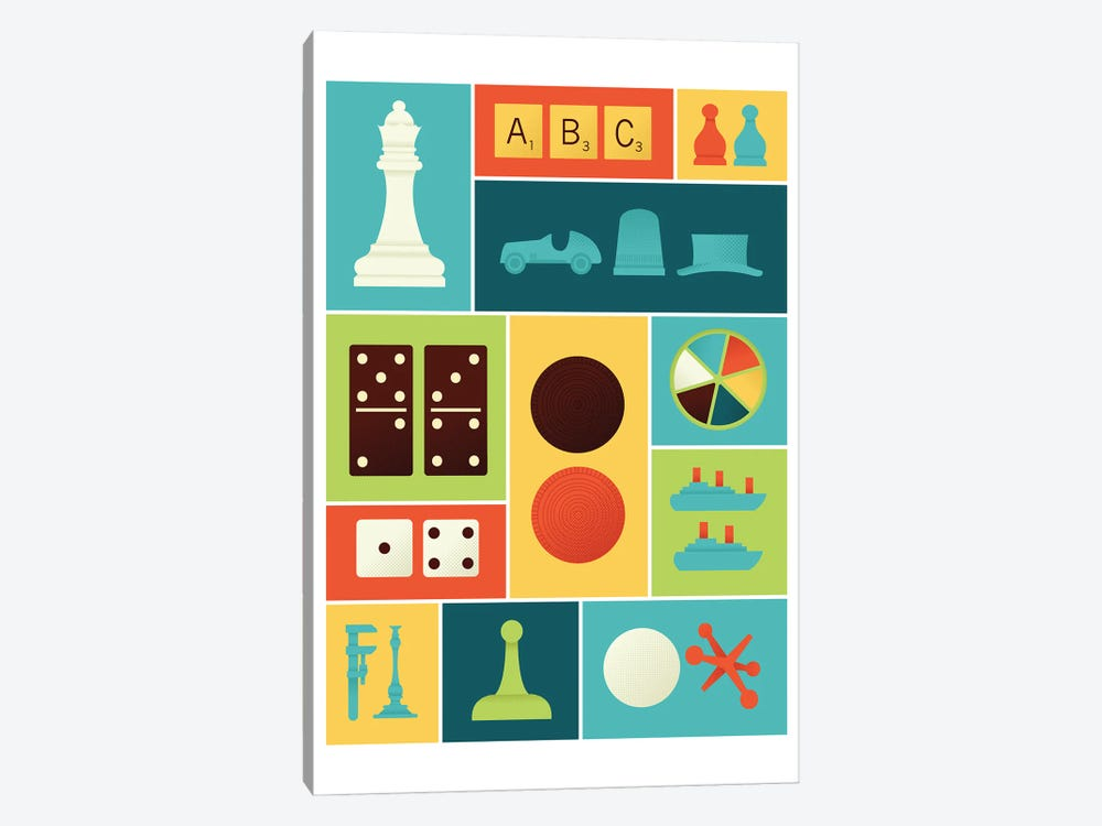 Classic Gaming by Andrew Heath 1-piece Canvas Print