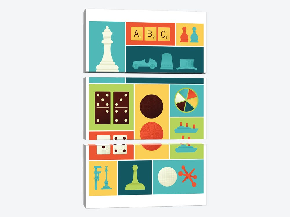 Classic Gaming by Andrew Heath 3-piece Art Print