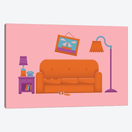 Couch Gag Canvas Print #AHH24} by Andrew Heath Canvas Print