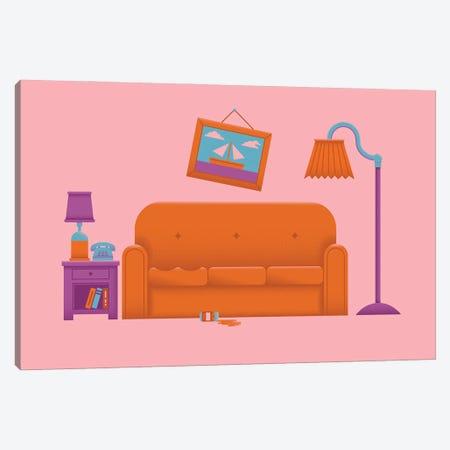 Couch Gag Canvas Print #AHH24} by Andrew Heath Canvas Print