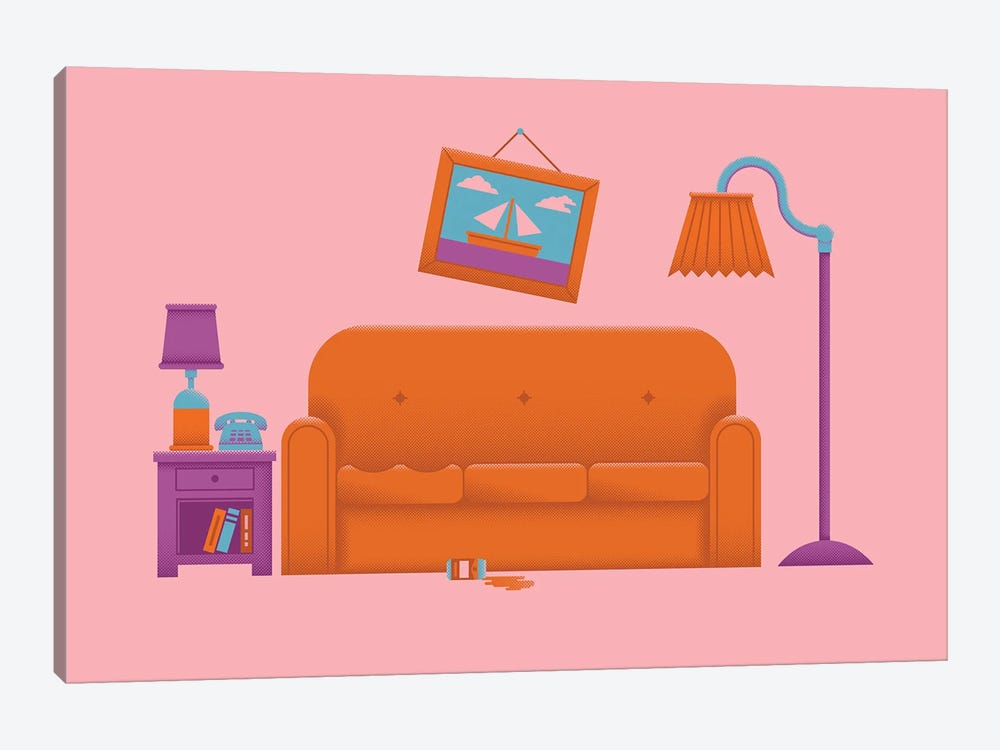 Couch Gag by Andrew Heath 1-piece Canvas Artwork