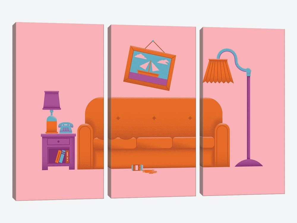 Couch Gag by Andrew Heath 3-piece Canvas Wall Art
