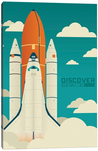 Discover Space Canvas Art Print