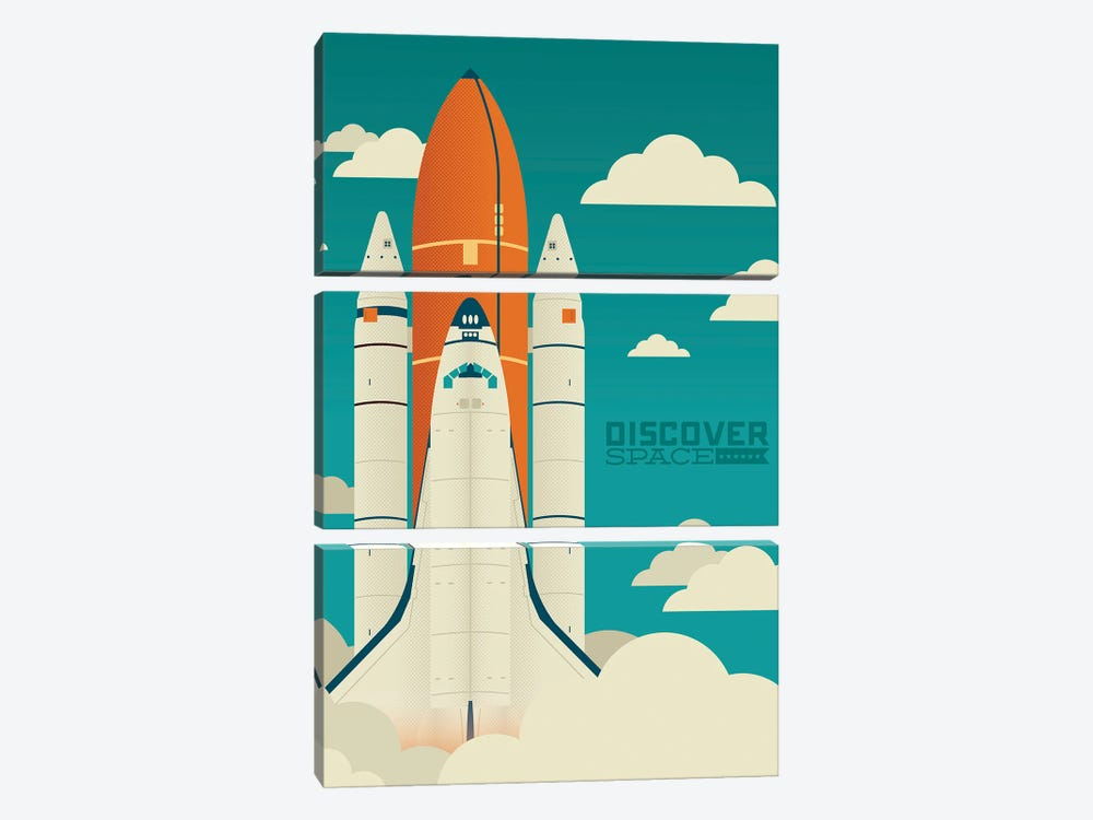 Discover Space by Andrew Heath 3-piece Canvas Art