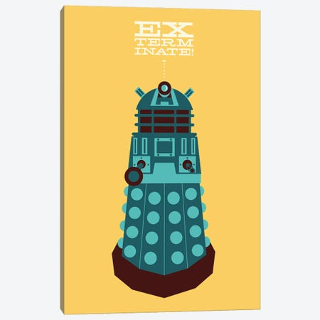 Exterminate Canvas Print #AHH29} by Andrew Heath Canvas Art