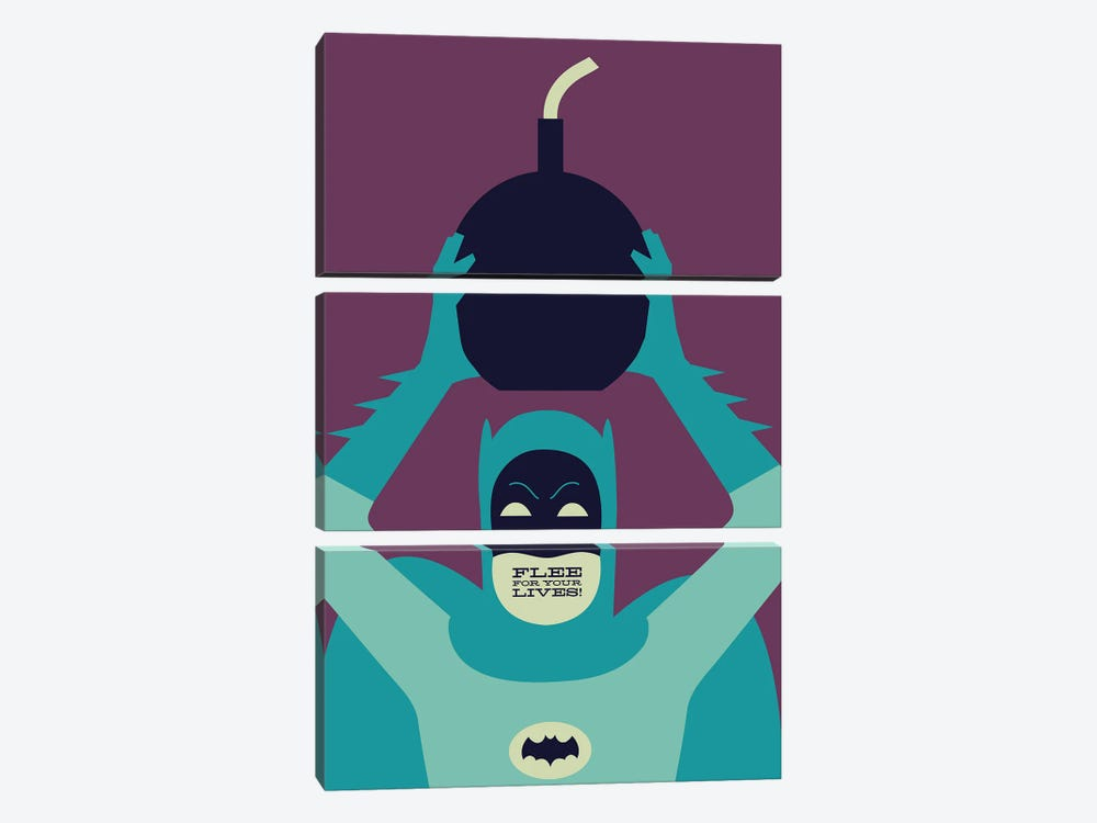 Flee For Your Lives by Andrew Heath 3-piece Canvas Wall Art