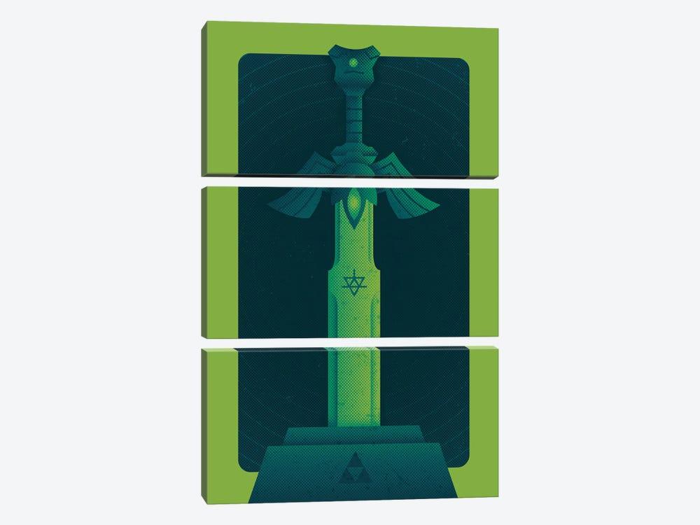 Heroes Sword by Andrew Heath 3-piece Canvas Art Print
