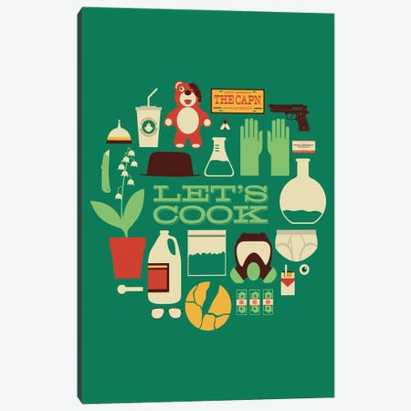 Let's Cook Canvas Print #AHH55} by Andrew Heath Canvas Wall Art
