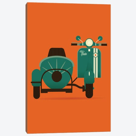 Let's Ride Canvas Print #AHH56} by Andrew Heath Canvas Art