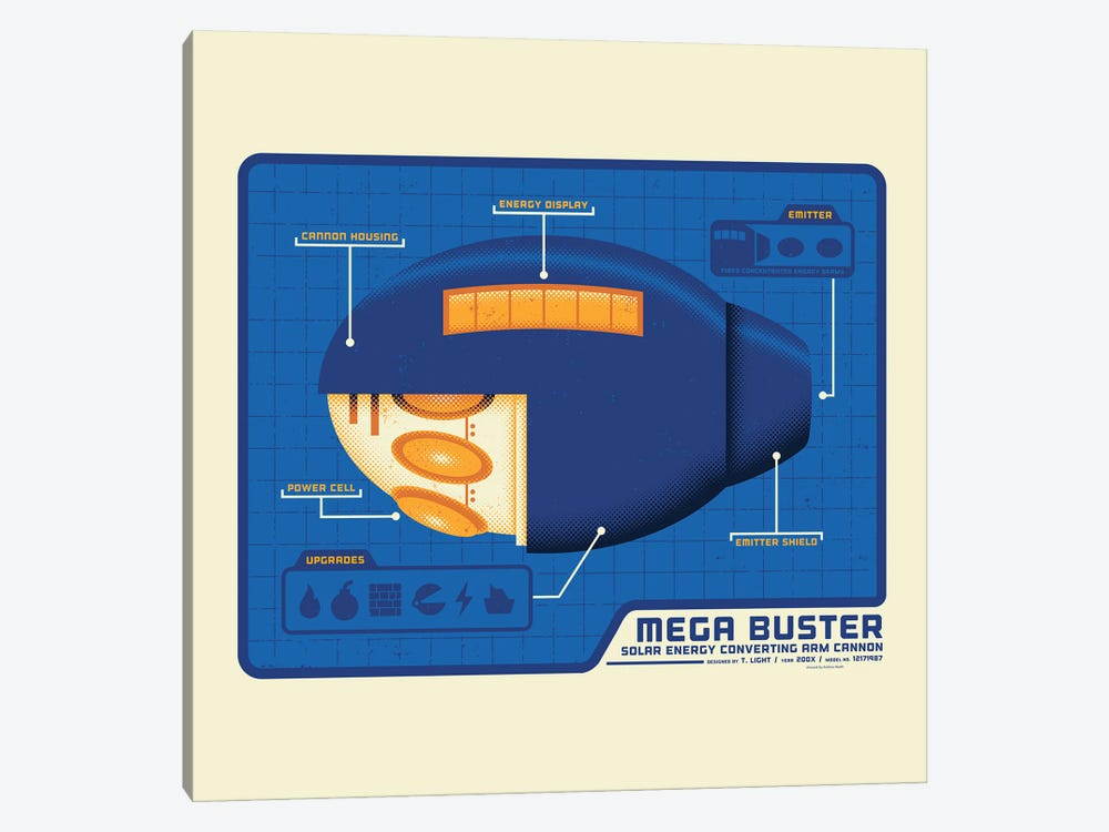 Mega Buster by Andrew Heath 1-piece Canvas Art