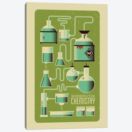 Respect the Chemistry Canvas Print #AHH72} by Andrew Heath Art Print