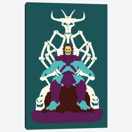 Skull Throne Canvas Print #AHH78} by Andrew Heath Canvas Art Print