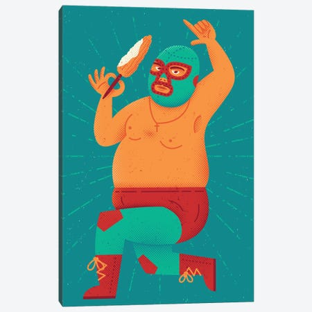 Stretchy Pants Canvas Print #AHH84} by Andrew Heath Canvas Art Print