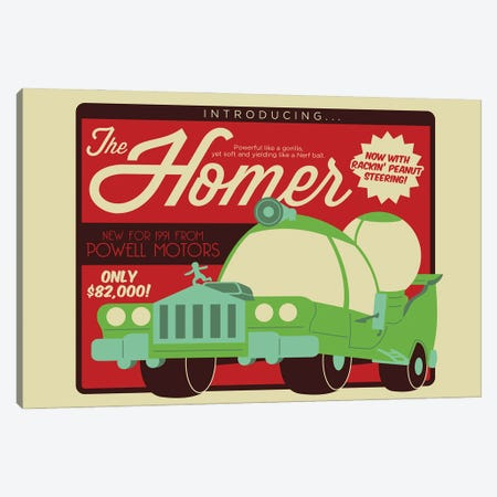 The Homer Canvas Print #AHH88} by Andrew Heath Canvas Wall Art