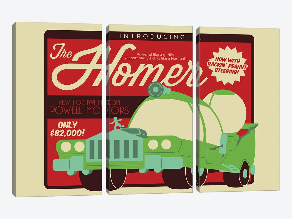 The Homer by Andrew Heath 3-piece Canvas Wall Art