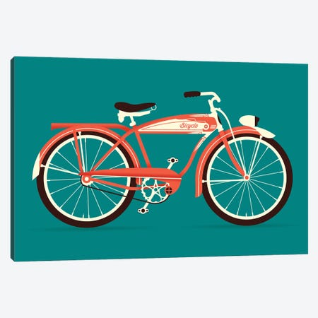 Bicycle Canvas Print #AHH8} by Andrew Heath Canvas Artwork