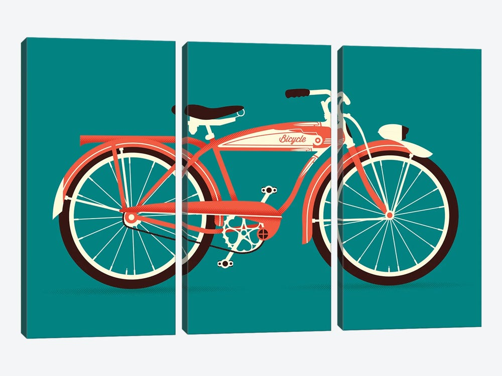 Bicycle by Andrew Heath 3-piece Canvas Art