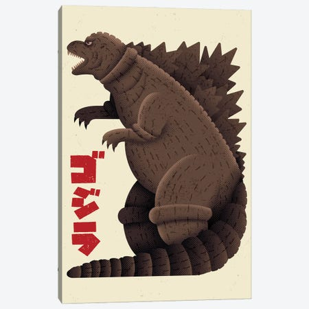 The Monster King Canvas Print #AHH92} by Andrew Heath Art Print