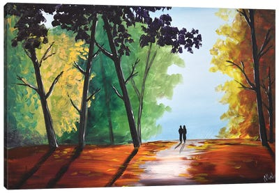 Colorful Autumn Scene II Canvas Art Print