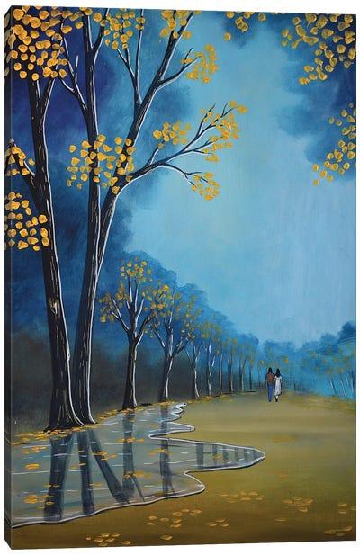 Golden Trees Canvas Art Print