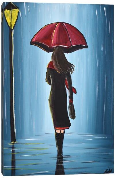 Midnight Umbrella IX Canvas Art Print