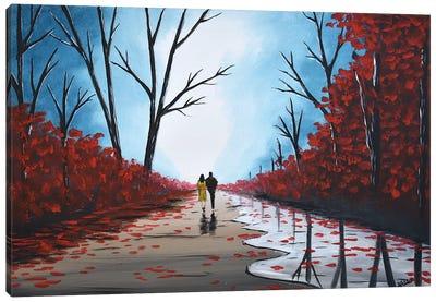 Misty Autumn Walk IV Canvas Art Print