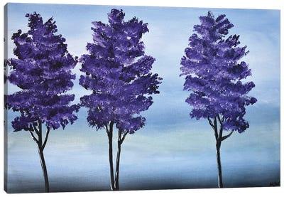 3 Purple Trees Canvas Art Print
