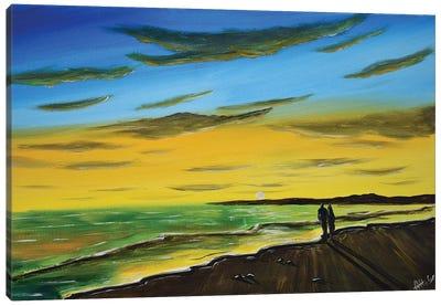 Our Sunset Beack Walk III Canvas Art Print