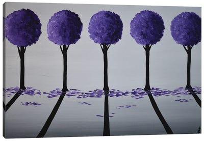 Purple Round Trees III Canvas Art Print