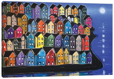 Rainbow Houses VIII Canvas Art Print