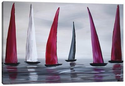 Regattas In A Row Canvas Art Print