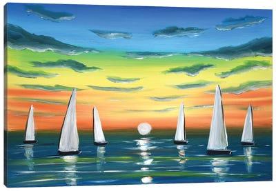 Sunset Sails Canvas Art Print