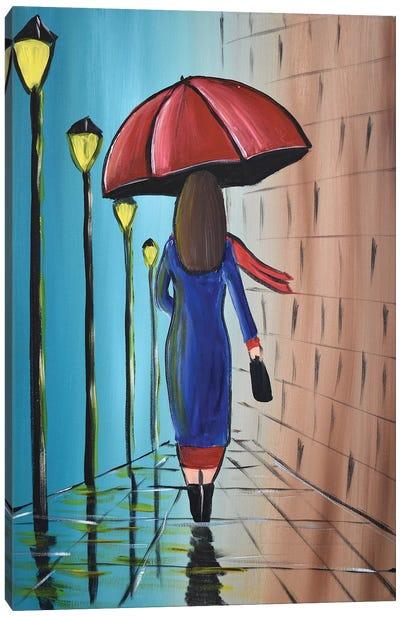 The Umbrella Lady III Canvas Art Print