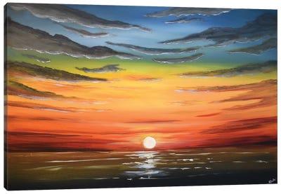 A Beautiful Sunset Canvas Art Print