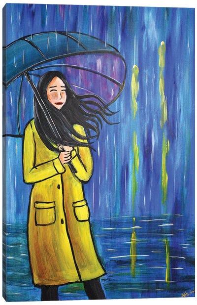 The Yellow Raincoat III Canvas Art Print