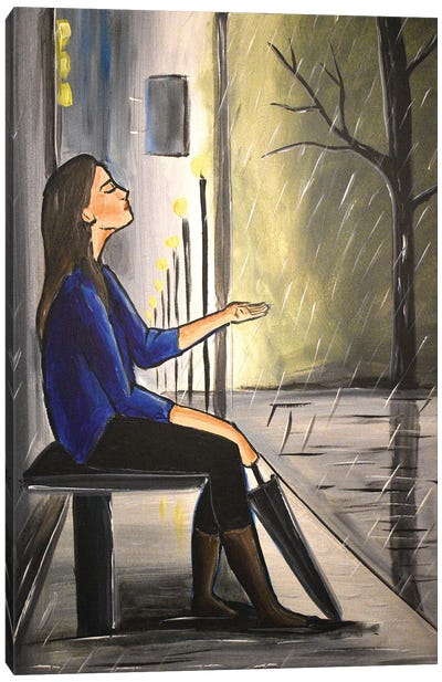 Shelter From The Rain II Canvas Art Print