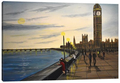 Evening In London Canvas Art Print