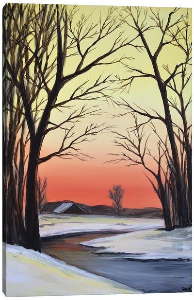 A Winter Sunset Canvas Art Print
