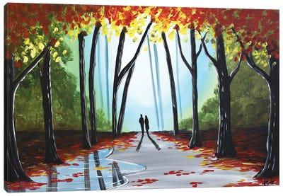 A Wonderful Autumn Walk Canvas Art Print