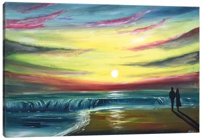 As The Sun Sets Canvas Art Print