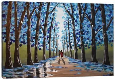 Between The Blue Trees III Canvas Art Print